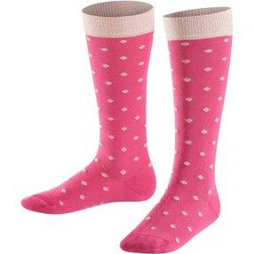 FALKE Glitter Dot Kinder Kniestrümpfe, 39-42, Pink, Lurex, Baumwolle, 11895-855006