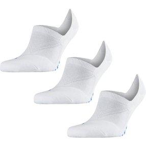 FALKE Cool Kick 3-Pack Füßlinge, 44-45, Weiß, Uni, 13051-200004