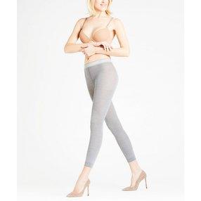 FALKE Softmerino Damen Leggings, 44-46, Grau, Uni, Schurwolle, 48475-383004