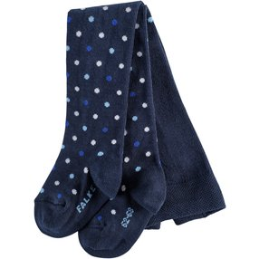 FALKE Little Dot Baby Strumpfhose, 74-80, Blau, Punkte, Baumwolle, 13590-612103