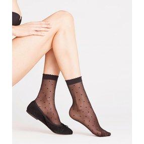 FALKE Dot 15 DEN Damen Socken, 39-42, Schwarz, Punkte, 41452-300902