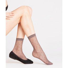 FALKE Dot 15 DEN Damen Socken, 39-42, Grau, Punkte, 41452-390302