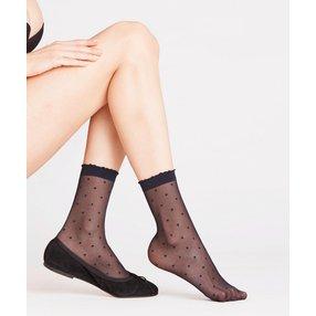 FALKE Dot 15 DEN Damen Socken, 35-38, Blau, Punkte, 41452-617901