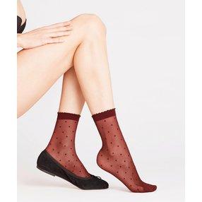 FALKE Dot 15 DEN Damen Socken, 35-38, Rot, Punkte, 41452-859601