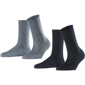 FALKE Active Breeze 2-Pack Damen Socken, 39-42, Mehrfarbig, Uni, 49121-002002