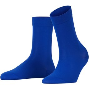 FALKE Cotton Touch Damen Socken, 35-38, Blau, Uni, Baumwolle, 47673-606501