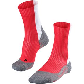 FALKE TE2 Thread Herren Tennis Socken, 44-45, Rot, Baumwolle, 16847-807004