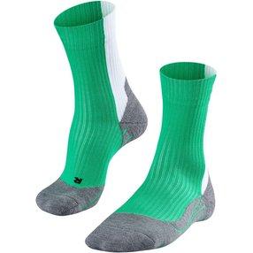 FALKE TE2 Thread Herren Tennis Socken, 39-41, Grün, Baumwolle, 16847-701402