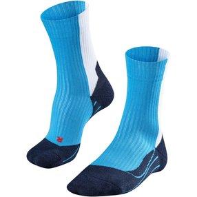 FALKE TE2 Thread Herren Tennis Socken, 44-45, Blau, Baumwolle, 16847-616304