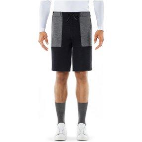 FALKE Herren Shorts, M, Blau, Struktur, Schurwolle, 62021-643703