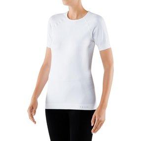FALKE Damen Kurzarmshirt Maximum Warm, S, Weiß, Uni, 33043-286002