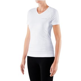 FALKE Damen Kurzarmshirt Warm, S, Weiß, Uni, 39112-286002