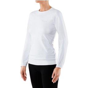 FALKE Damen Langarmshirt Maximum Warm, XS, Weiß, Uni, 33041-286001