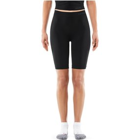 FALKE Damen Short Tights Warm, L, Schwarz, Uni, 39120-300004
