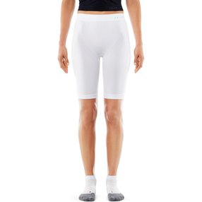 FALKE Damen Short Tights Warm, XL, Weiß, Uni, 39120-286005