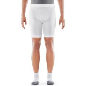 FALKE Herren Short Tights Warm, XL, Weiß, Uni, 39620-286005