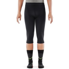 FALKE Warm Impulse Herren 3/4 Tights Health, XL, Schwarz, Uni, 39626-300005