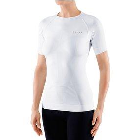 FALKE Damen Kurzarmshirt Warm, S, Weiß, Uni, 39113-286002