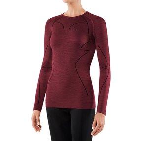 FALKE Damen Langarmshirt Wool-Tech, S, Rot, Uni, Schurwolle, 33211-883002