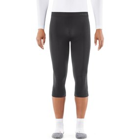 FALKE Herren 3/4 Tights Warm, XXL, Grau, Uni, 39617-334106