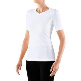 FALKE Damen Kurzarmshirt Cool, M, Weiß, Uni, 33241-286003