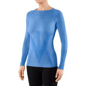 FALKE Damen Langarmshirt Warm, XS, Blau, Uni, 39111-654601