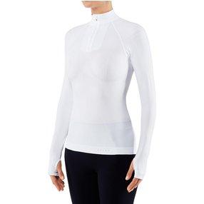 FALKE Damen Langarmshirt Warm, L, Weiß, Uni, 39127-286004