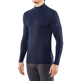 FALKE Herren Langarmshirt Warm, XL, Blau, Uni, 39633-617705