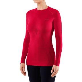 FALKE Damen Langarmshirt Maximum Warm, XS, Rot, Uni, 33042-807001