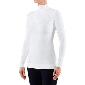 FALKE Damen Langarmshirt Maximum Warm, XL, Weiß, Uni, 33040-286005