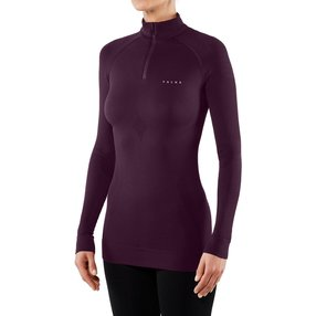 FALKE Damen Langarmshirt Maximum Warm, XS, Lila, Uni, 33040-870401