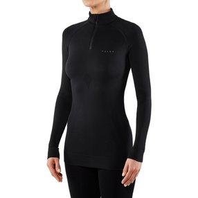 FALKE Damen Langarmshirt Maximum Warm, XL, Schwarz, Uni, 33040-300005
