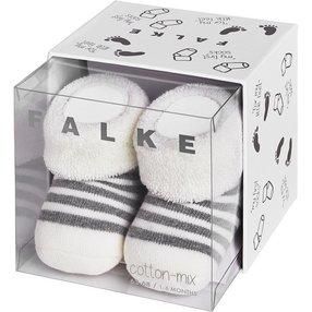 FALKE Erstlingsringel Baby Geschenkbox, 50-56, Weiß, Streifen, Baumwolle, 10040-204108