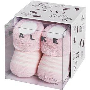 FALKE Erstlingsringel Baby Geschenkbox, 62-68, Rosa, Streifen, Baumwolle, 10040-890001