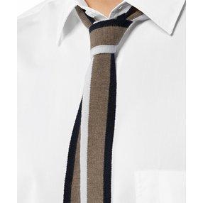 FALKE Herren Krawatte, Onesize, Braun, Streifen, Schurwolle, 63007-541001