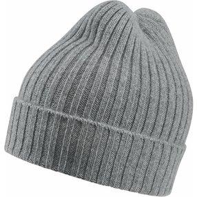 FALKE Mütze, Onesize, Grau, Struktur, Kaschmir, 63010-340001