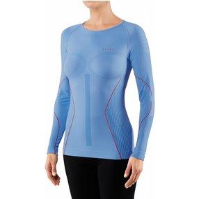 FALKE Damen Langarmshirt Warm, XL, Blau, 39136-654605