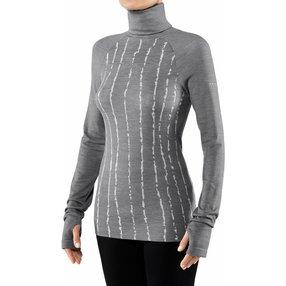 FALKE Damen Langarmshirt Wool-Tech, XL, Grau, Schurwolle, 33214-375705