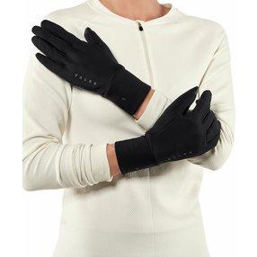 FALKE Brushed Handschuhe, S-M, Schwarz, Uni, 38677-300001