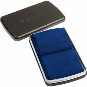 FALKE Airport 2-Pack Gift Box Herren Geschenkbox, 39-40, Blau, Uni, Schurwolle, 13015-600003