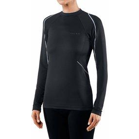 FALKE Damen Langarmshirt Maximum Warm, S, Schwarz, Struktur, 33051-300202