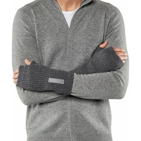 FALKE Herren Handschuhe, L-XL, Grau, Struktur, Schurwolle, 63015-327804