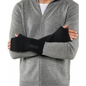 FALKE Herren Handschuhe, L-XL, Schwarz, Struktur, Schurwolle, 63015-300004