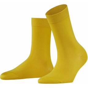 FALKE Cotton Touch Damen Socken, 35-38, Gelb, Uni, Baumwolle, 47673-100701