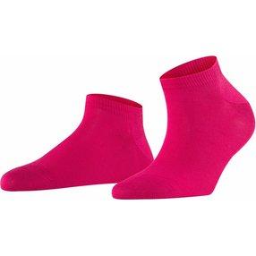 FALKE Family Damen Sneakersocken, 35-38, Pink, Uni, Baumwolle, 47629-821801