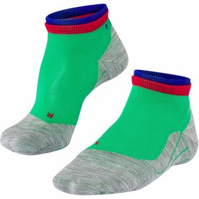 FALKE RU4 Short Bulges Sneakersocken, Herren, 46-48, Grün, Streifen, Baumwolle, 16757-701405