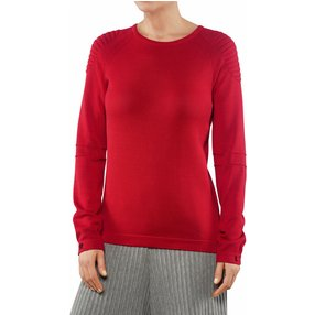 FALKE Damen Pullover Rundhals, M, Rot, Uni, Baumwolle, 64083-878403
