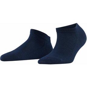 FALKE Family Damen Sneakersocken, 39-42, Blau, Uni, Baumwolle, 47629-612902