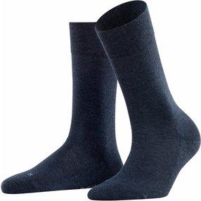 FALKE Sensitive London Damen Socken, 39-42, Blau, Uni, Baumwolle, 47686-649902