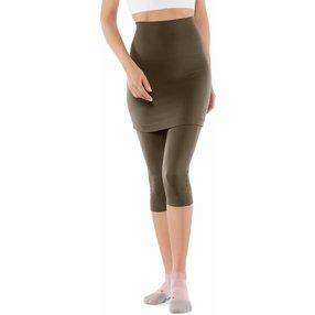 FALKE Yoga Seamless Damen 3/4 Tights, L, Grün, Uni, Baumwolle, 65040-783204